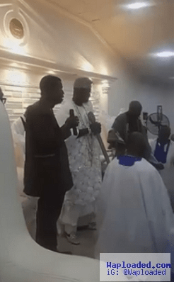 Photos: RCCG G.O, Pastor E.A. Adeboye Pictured Praying For The Ooni Of Ife At His Palace